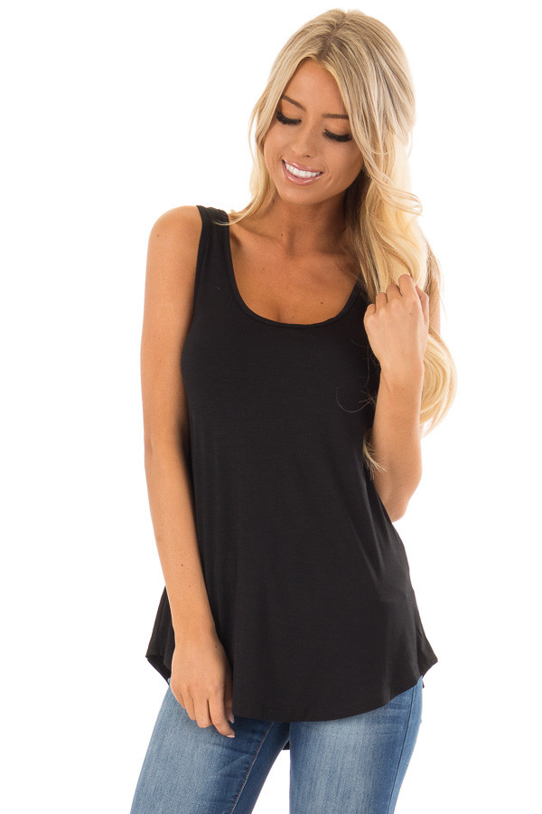 e71947c0d0ca0 Black loose scoop neck rayon tank top lime lush boutique jpg 600x900 Scoop  top