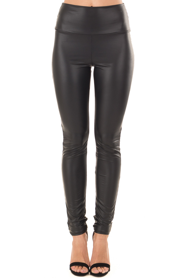 Obsidian Faux Leather Leggings front view