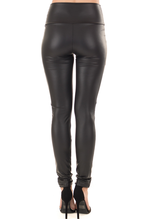 Obsidian Faux Leather Leggings back view