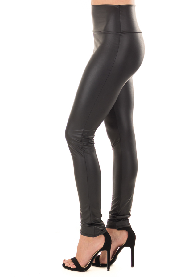 Obsidian Faux Leather Leggings side view