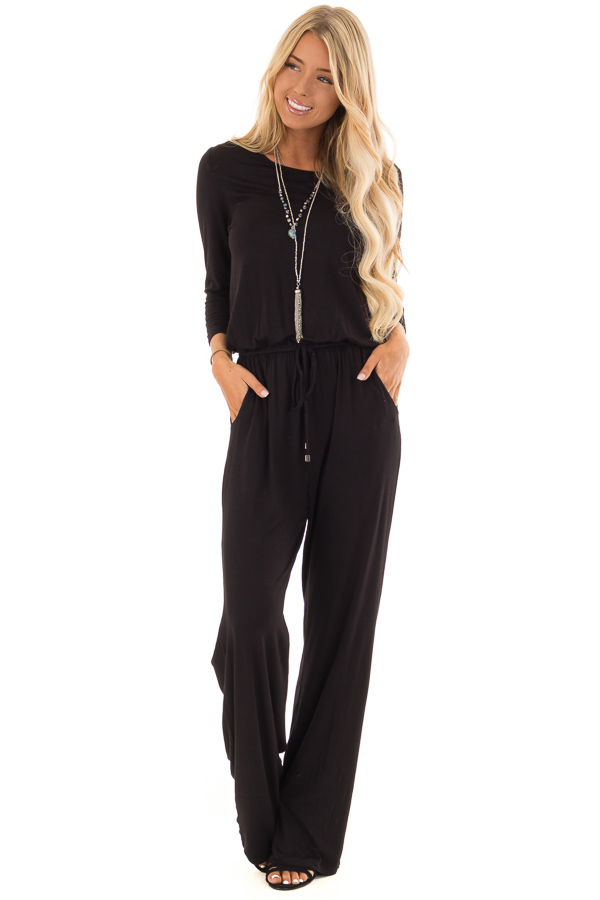fdc5d9a96625 Obsidian 3 4 Sleeve Jumpsuit with Back Keyhole Detail - Lime Lush ...