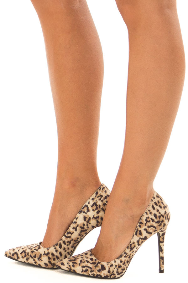 Leopard Print Faux Suede Stiletto Pump side view
