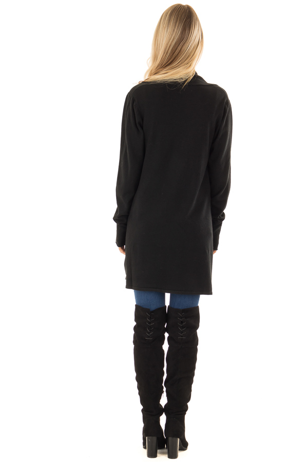 Raven Long Sleeve Open Front Cardigan back full body