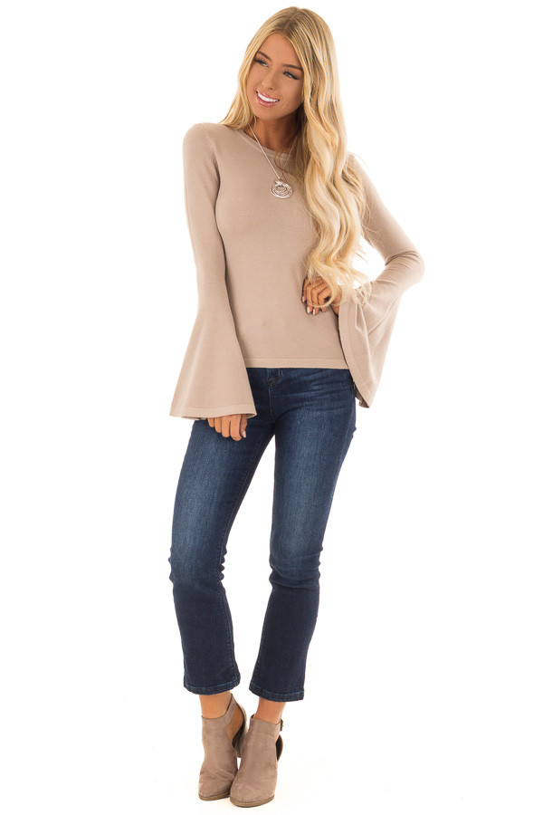 Dark Washed Mid Rise Cropped Flare Jeans with Pockets front full body