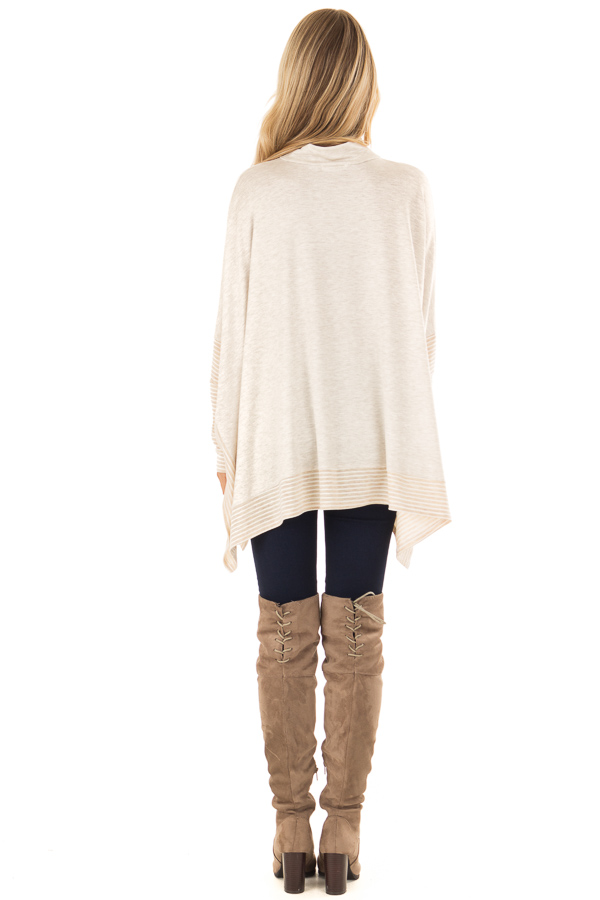 5fe6dd2efc0ee3 ... Oatmeal French Terry Poncho Top with Long Sleeves back full body ...