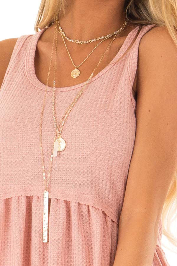 Light Salmon Babydoll Tank Top detail