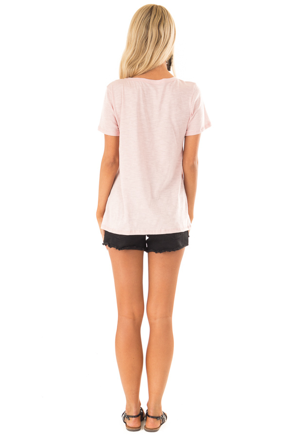 Rose Pink 'Always Stay Humble and Kind' Graphic Tee back full body