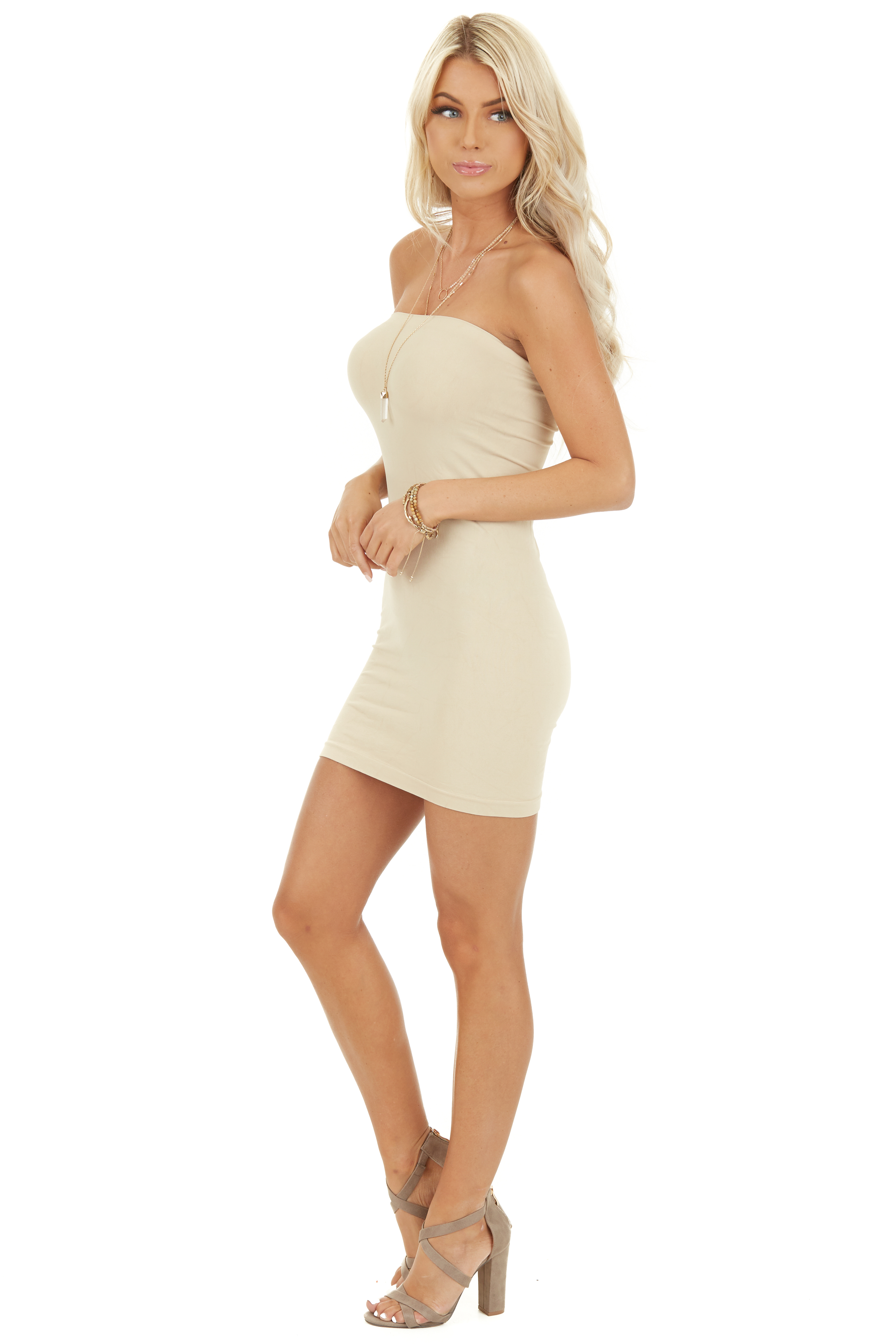 Stone Seamless Tube Dress Undergarment side full body