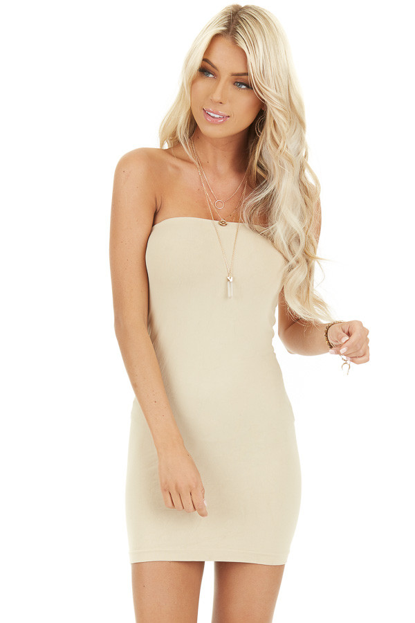 Stone Seamless Tube Dress Undergarment front close up
