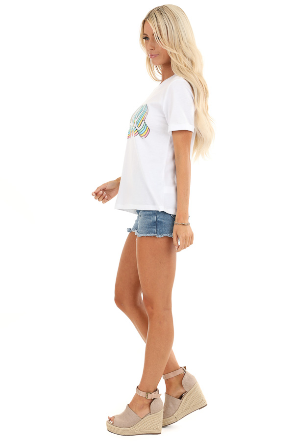 Coconut White 'Chill' Short Sleeve Graphic Tee side full body