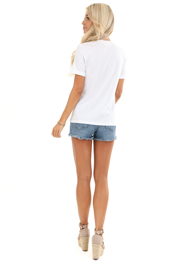 Coconut White 'Chill' Short Sleeve Graphic Tee back full body