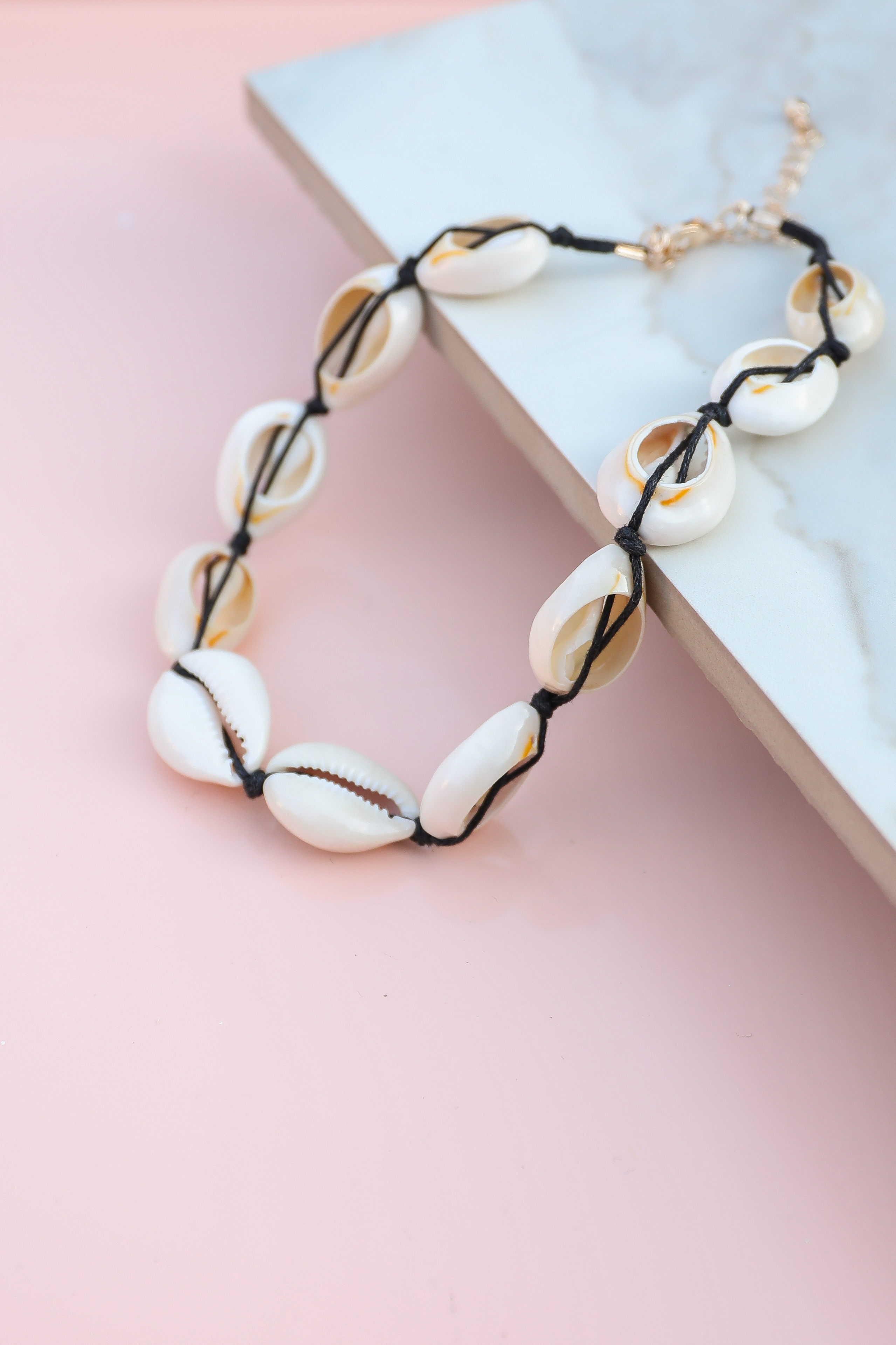Off White Large Puka Shell Choker Necklace