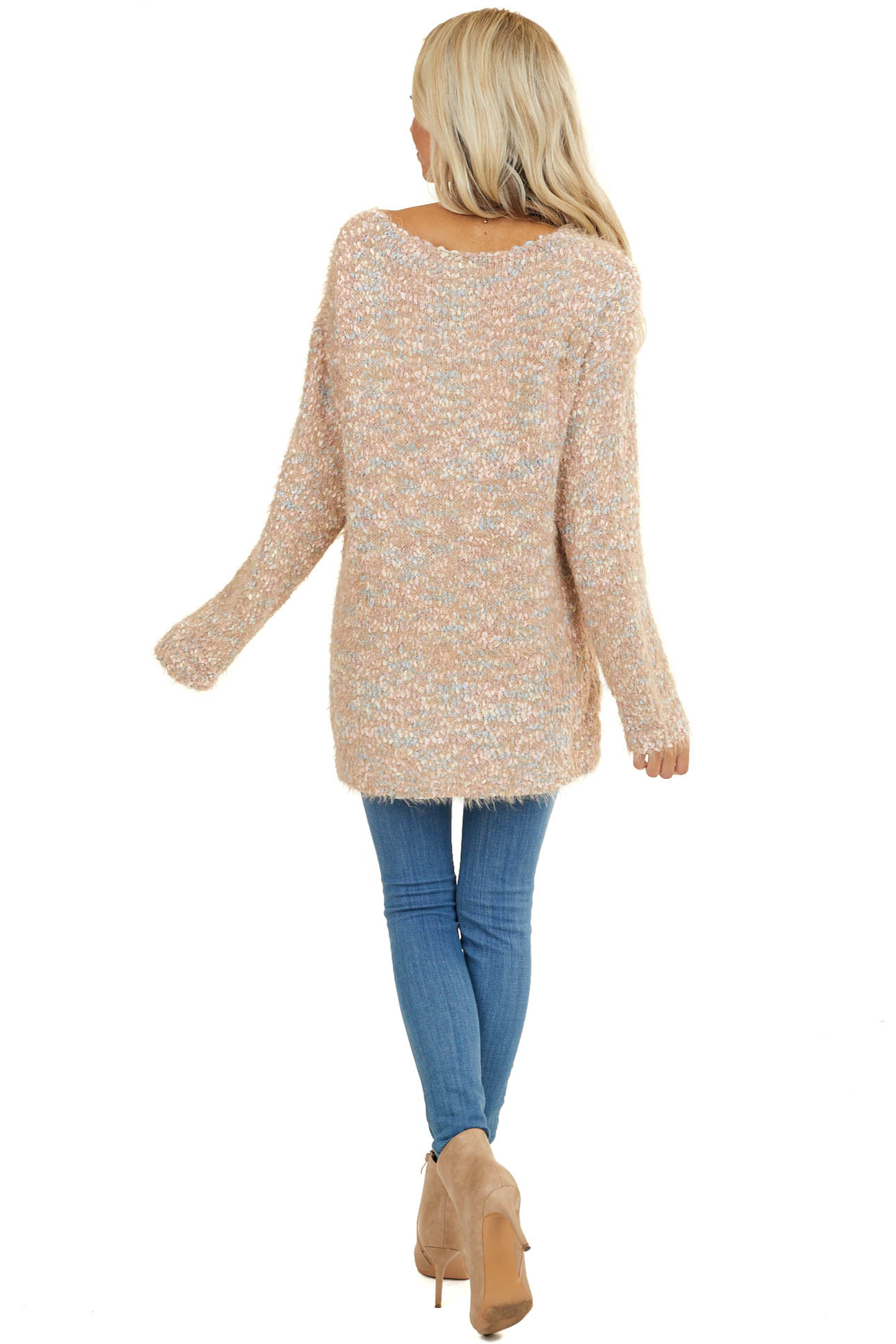 Toffee Speckled Super Soft Long Sleeve Sweater Top