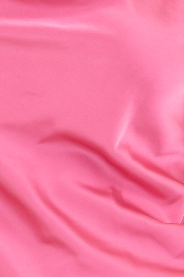 Bright Pink Silky Camisole with Draped Neckline detail