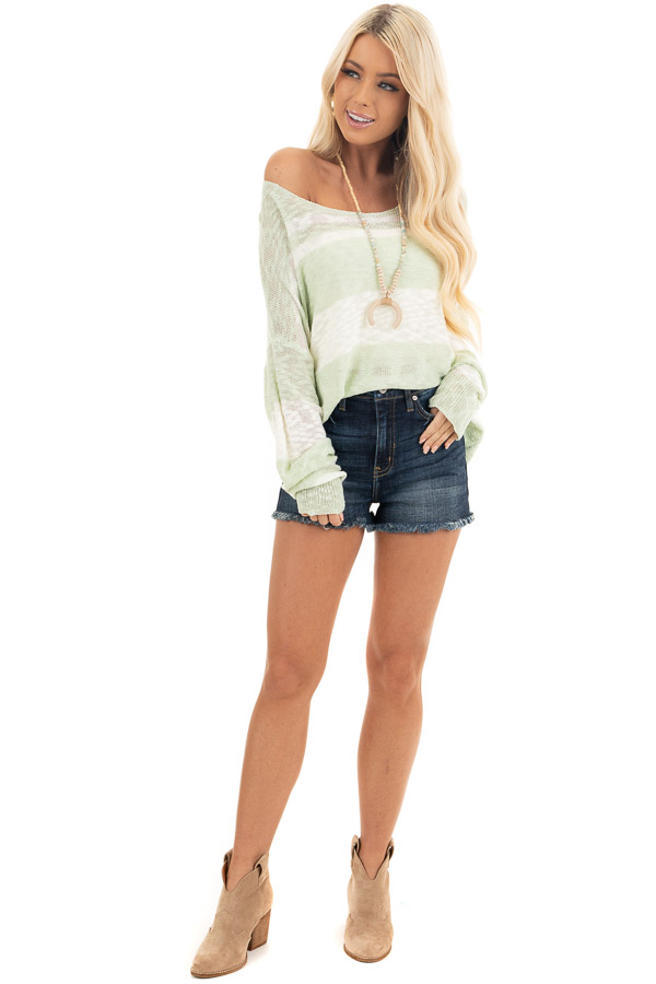 Dark Wash High Rise Denim Shorts with Frayed Detail front full body