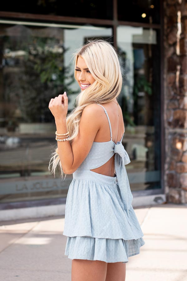Sage Green Ruffled Romper with Adjustable Spaghetti Straps