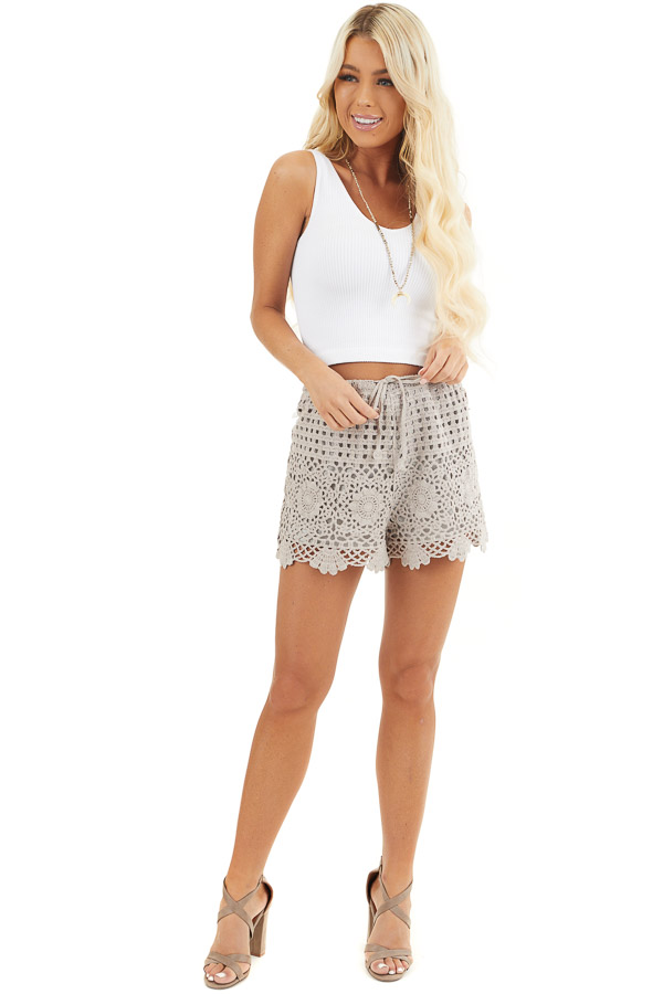 White V Neck Ribbed Knit Crop Top front full body
