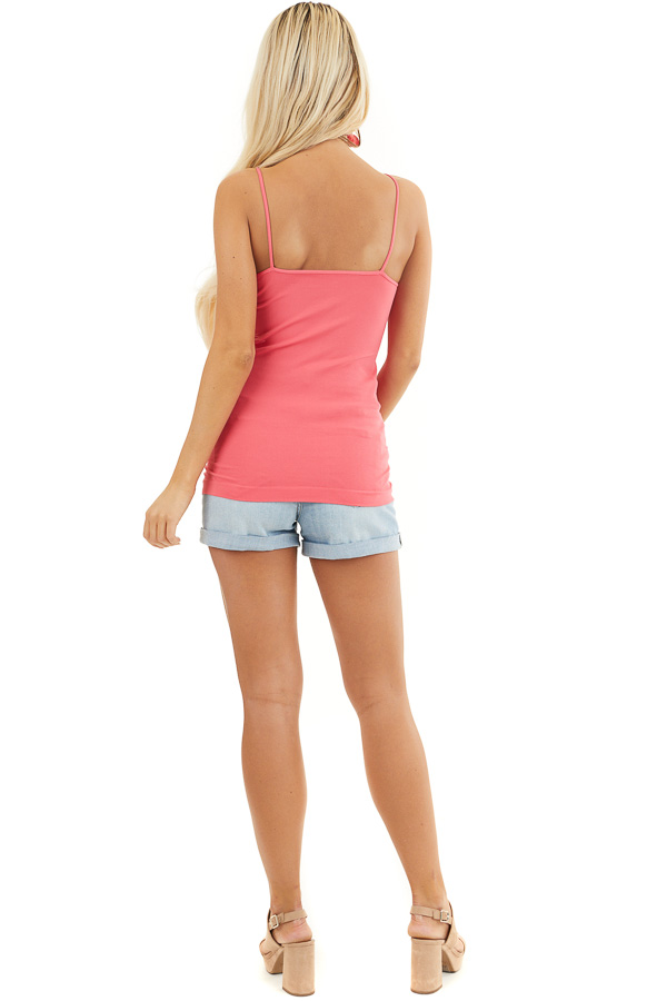 Bright Pink Criss Cross Strappy Camisole back full body