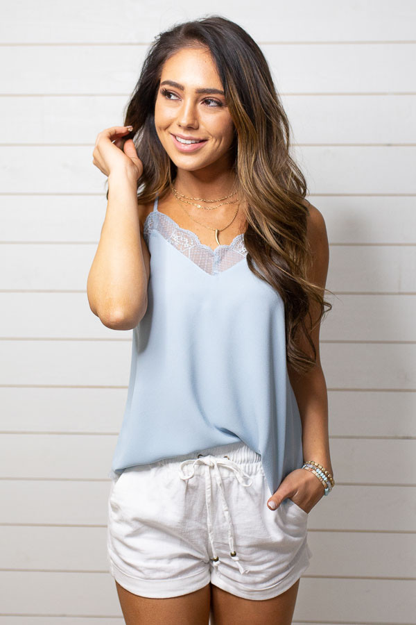 White Mid Rise Smocked Shorts with Pockets and Drawstring