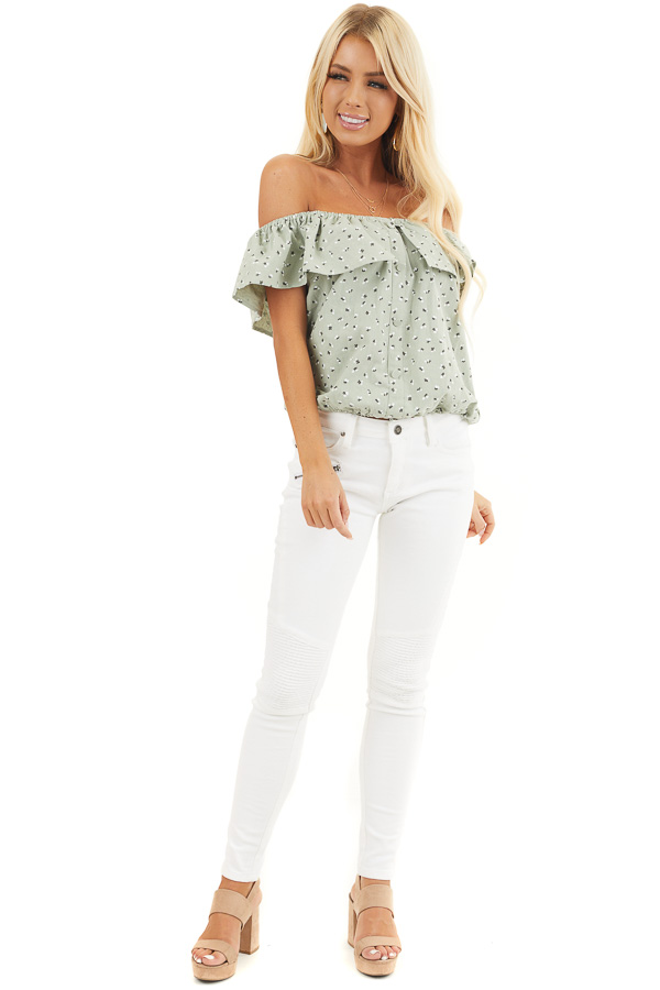 White Moto Skinny Jeans with Functional Pockets front full body