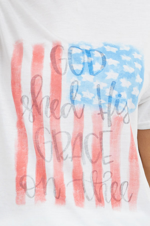 Off White 'God Shed His Grace on Thee' Graphic Tee