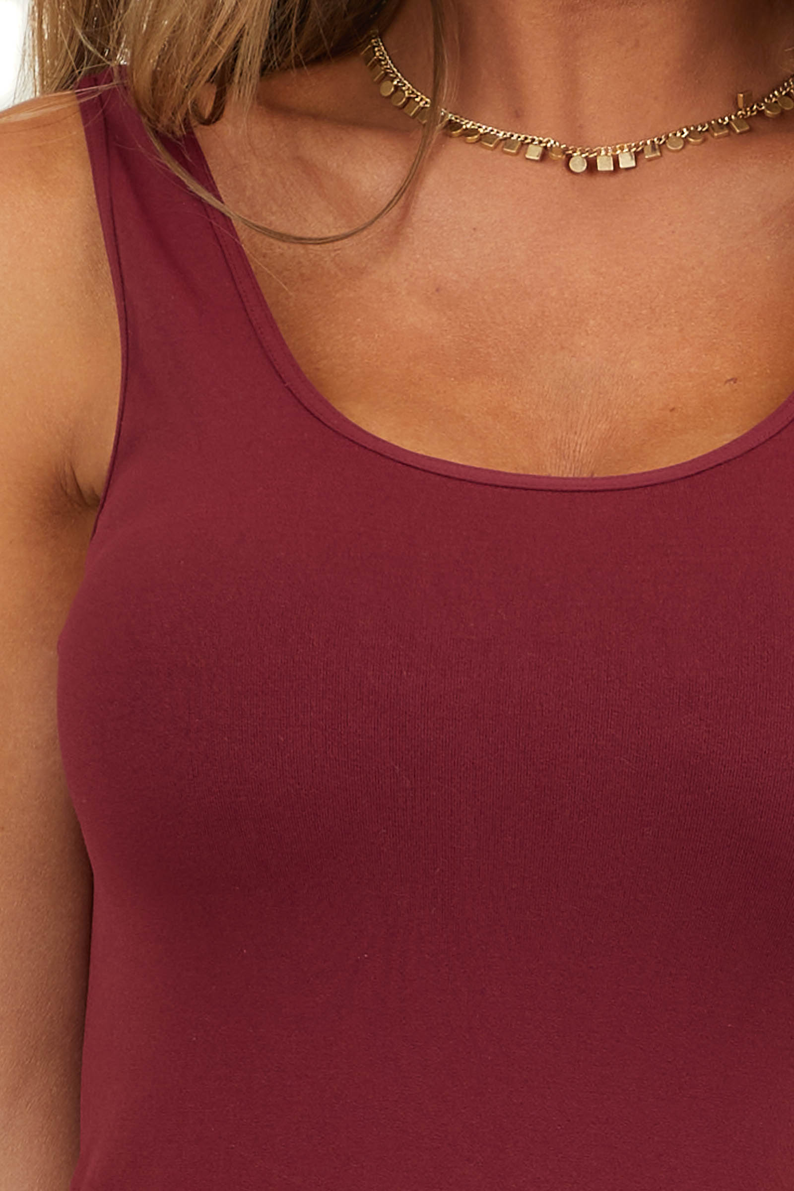 Plum Purple Seamless Long Tank Top