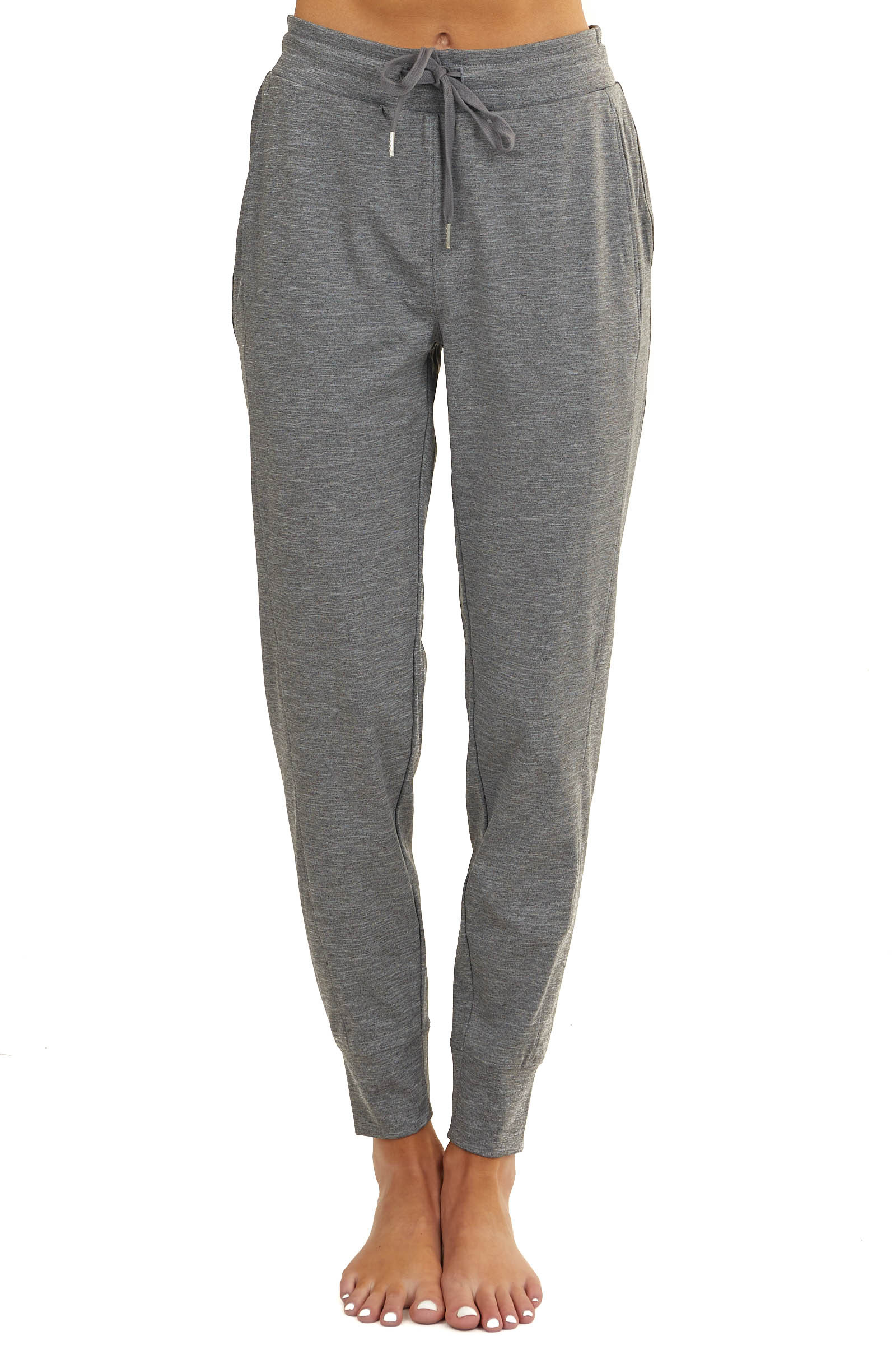Stormy Side Paneled Joggers with Drawstring and Side Pockets