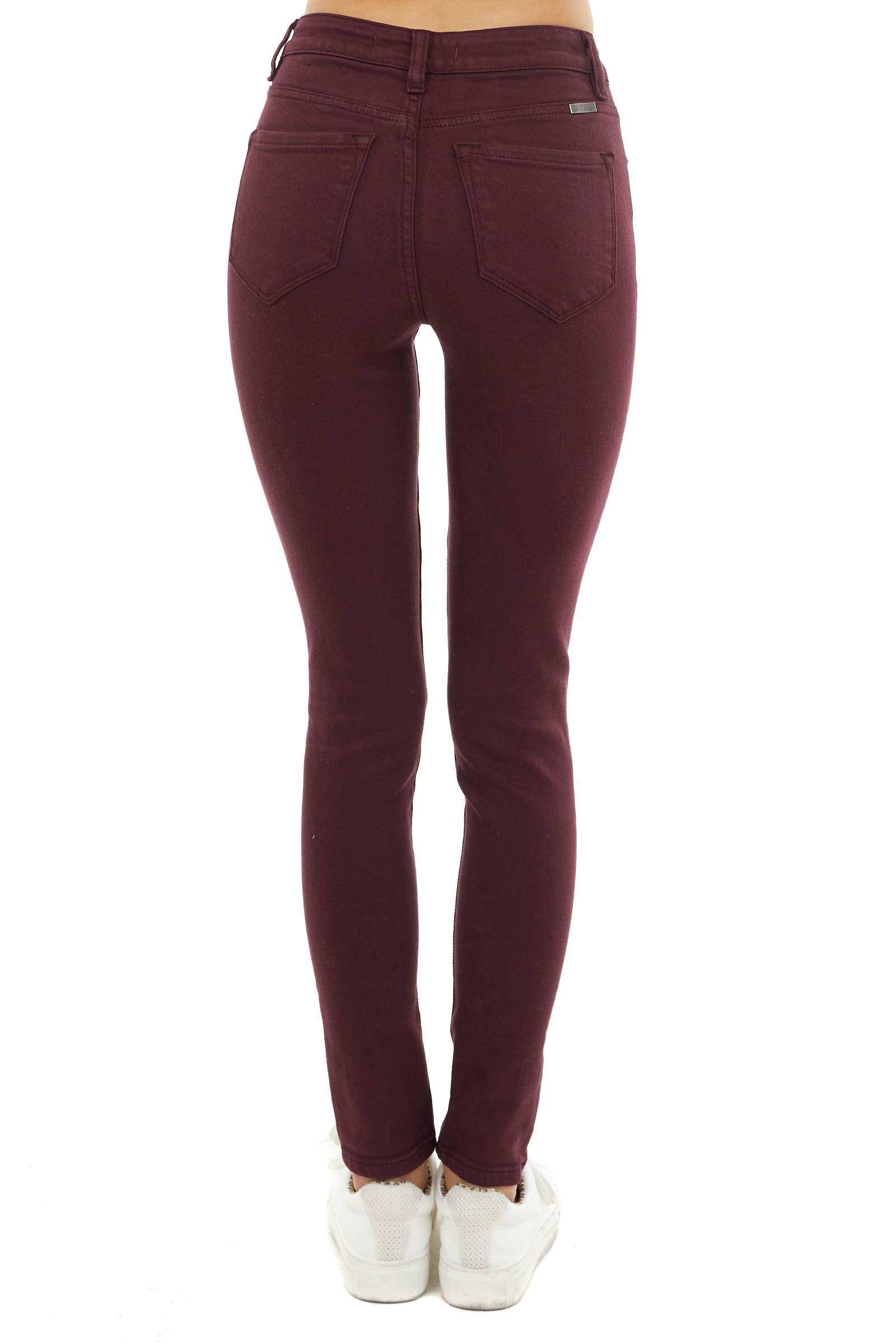 Mahogany High Rise Super Skinny Jeans with Pockets