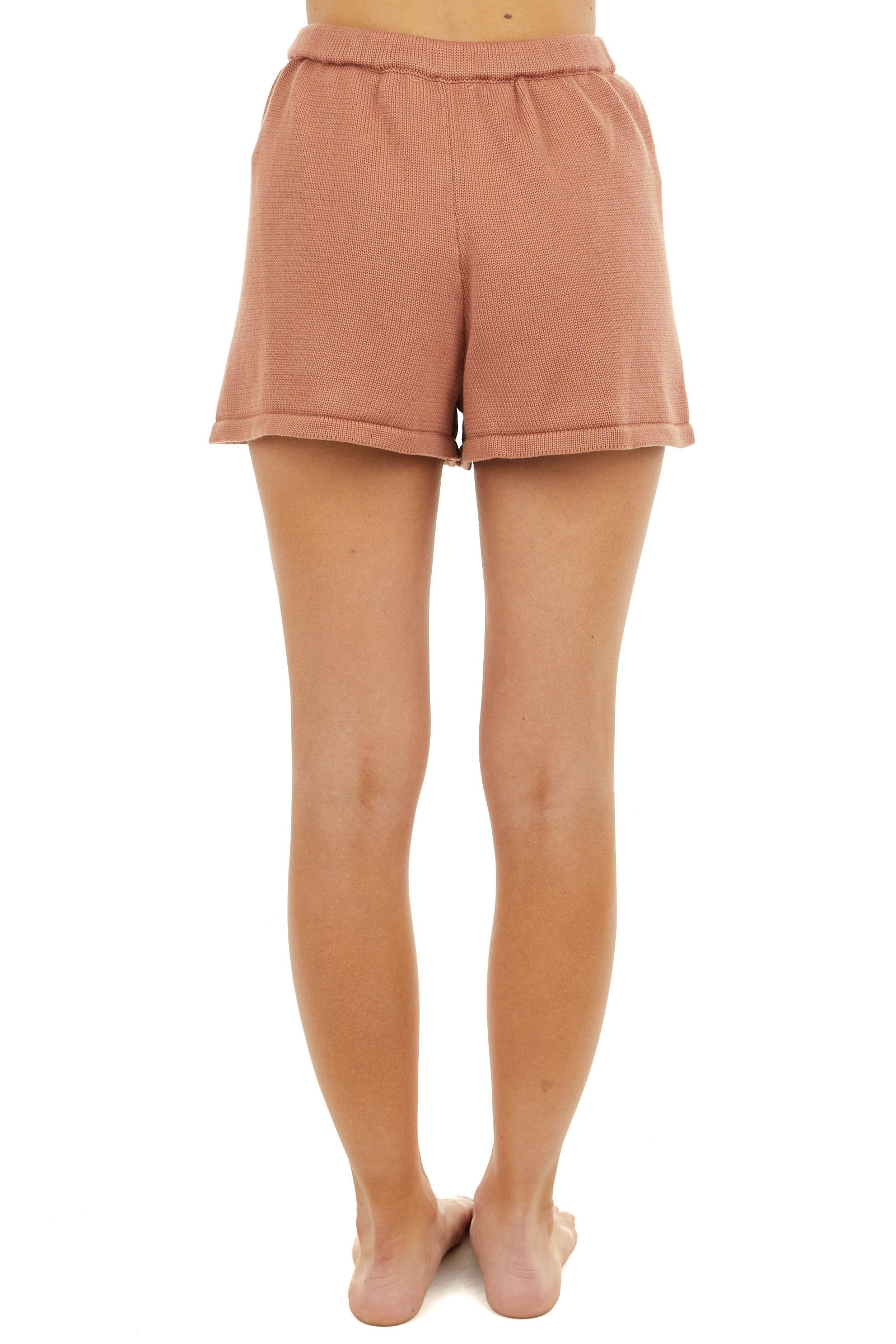Ginger Lightweight Sweater Shorts with Drawstring Waist
