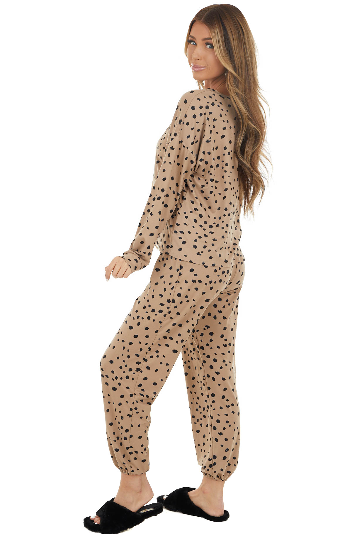 Latte and Black Cheetah Print Super Soft Long Sleeve Top