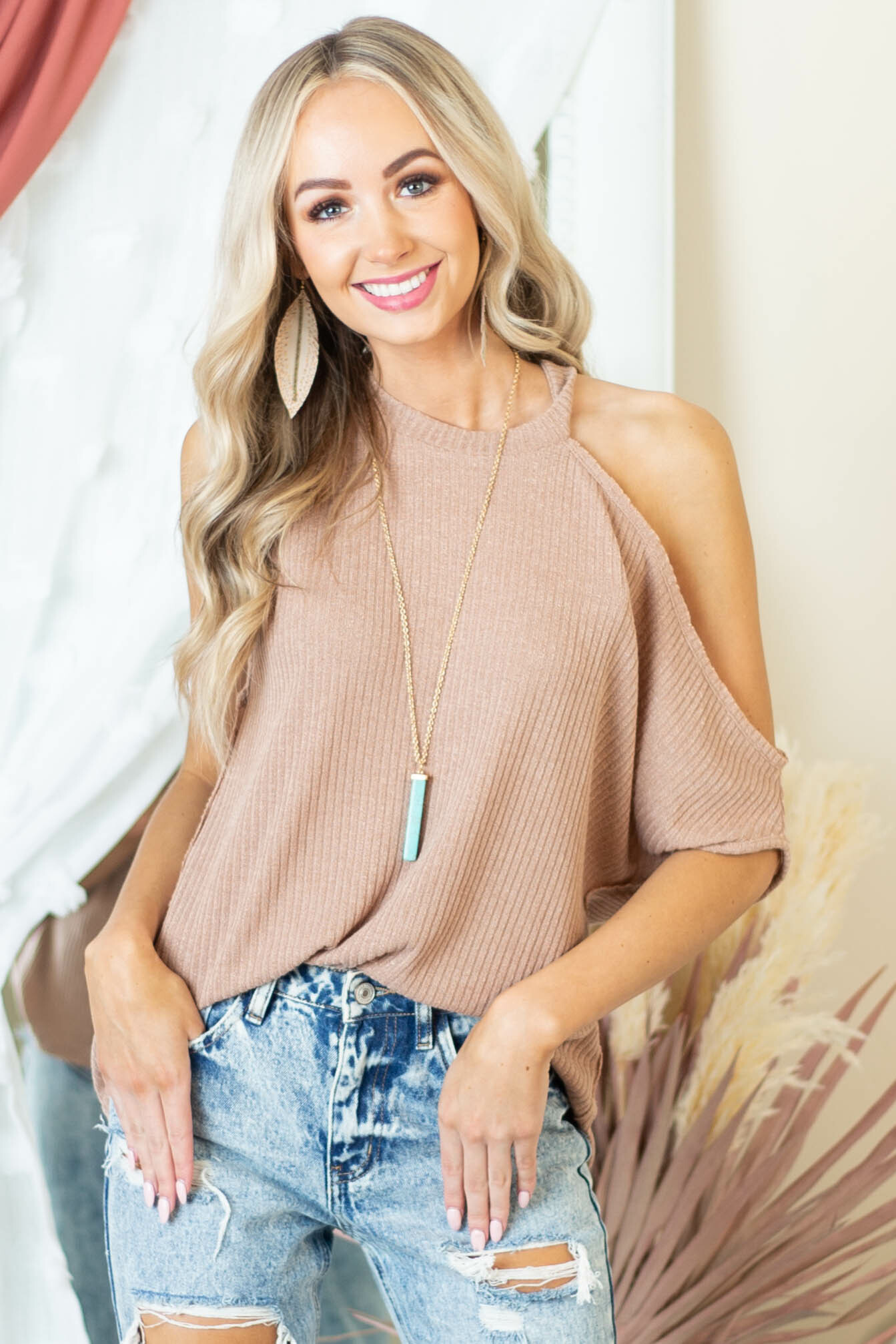Sienna Sleeveless Asymmetrical Knit Top with Cold Shoulder