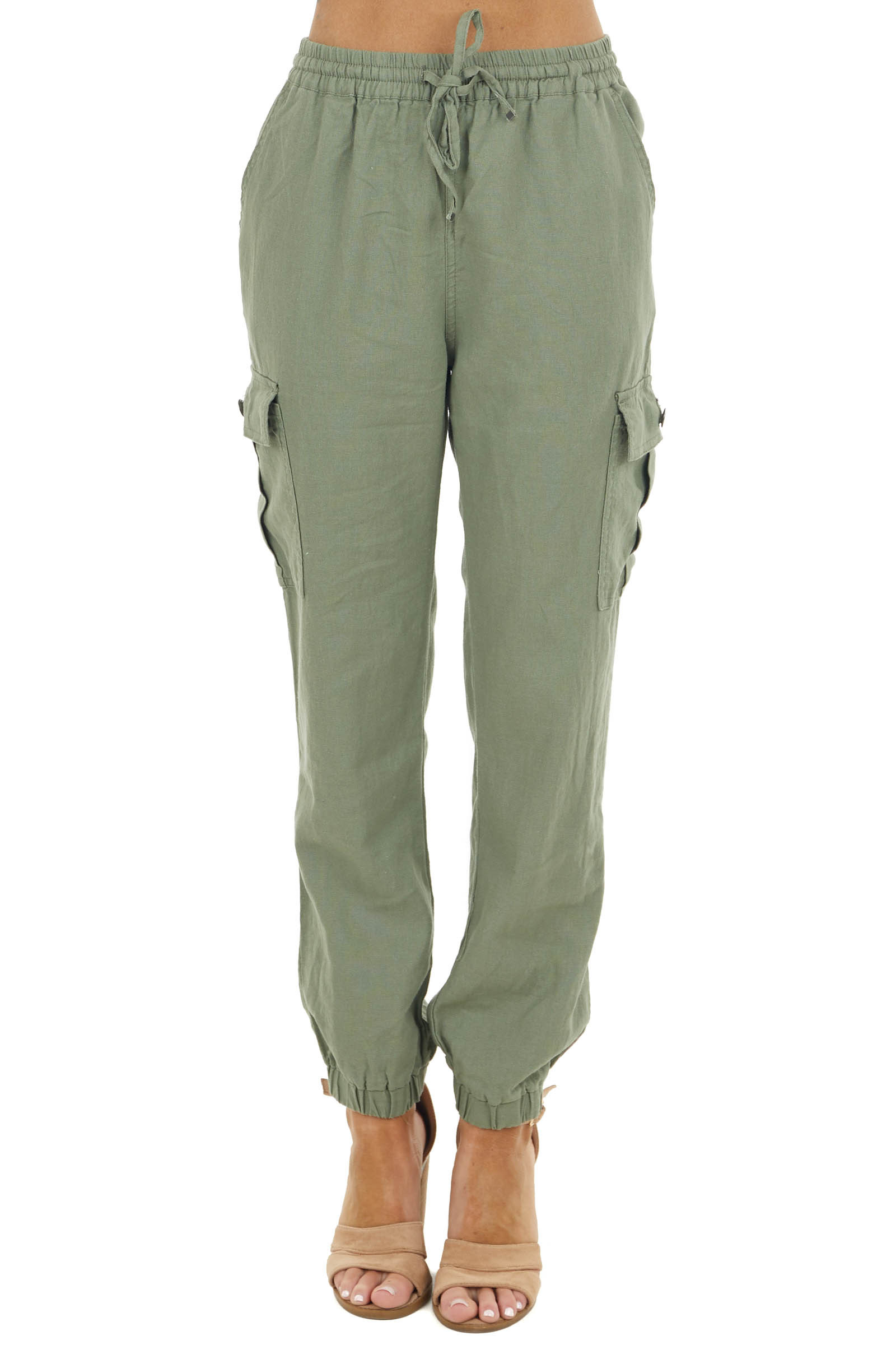 Ash Lightweight Jogger Pants with Functional Pockets