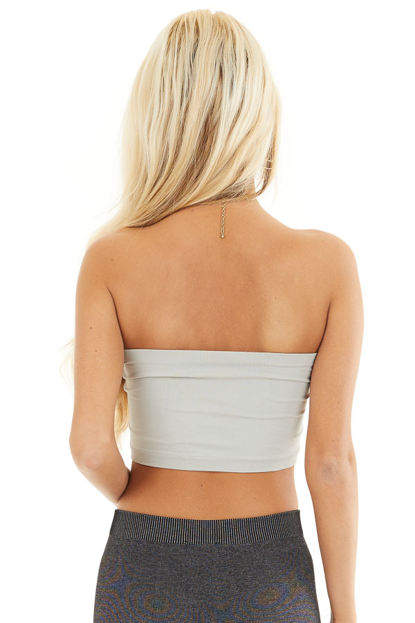Metal Grey Seamless Stretchy Bandeau Undergarment back view
