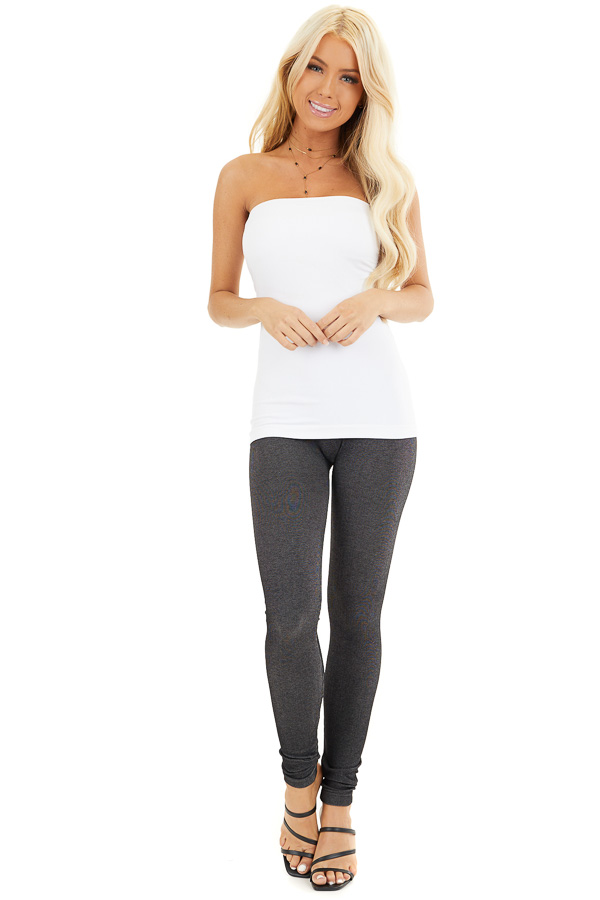 White Ruched Tube Top front full body