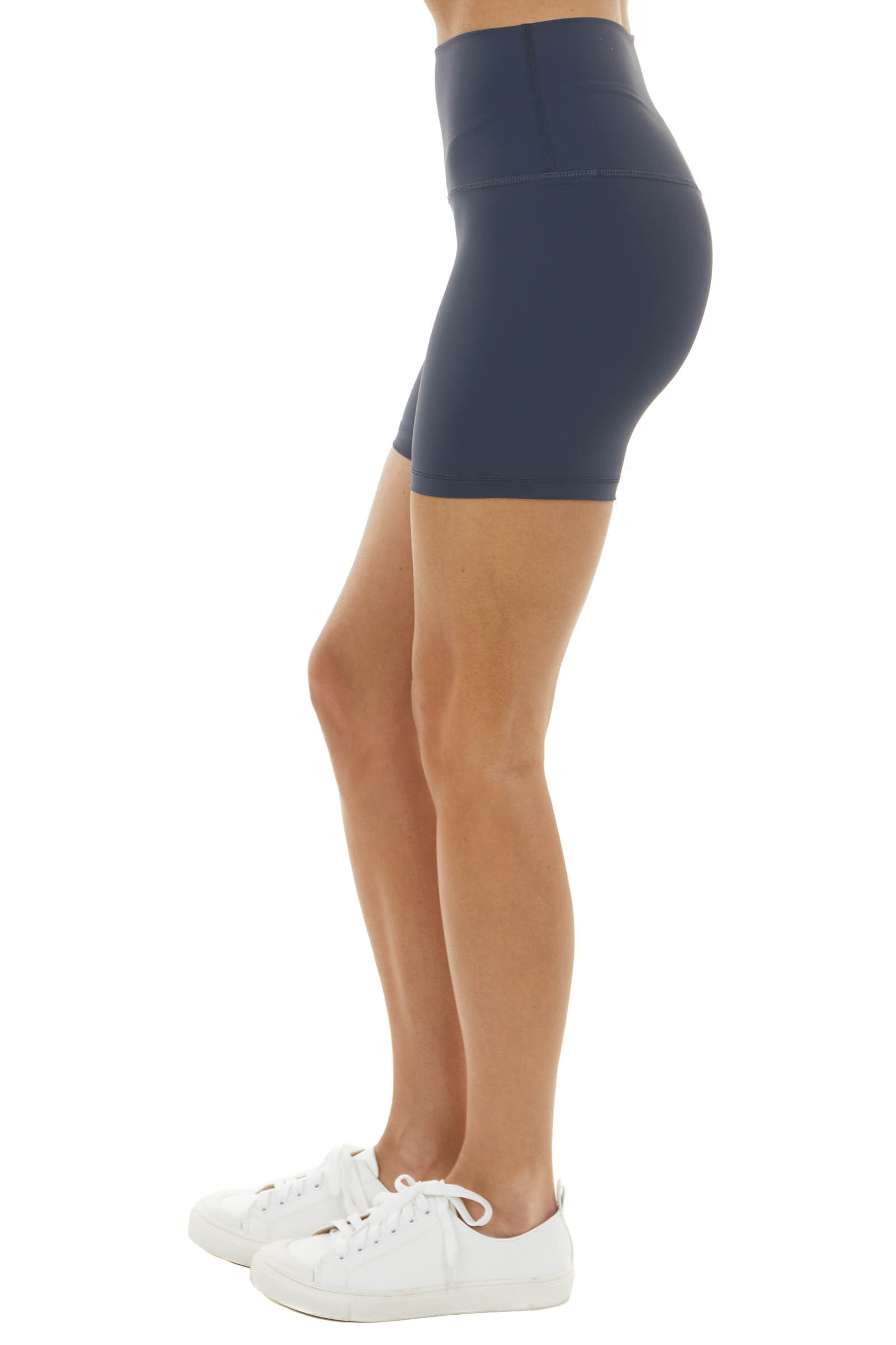 Charcoal Super Stretchy High Waisted Activewear Shorts