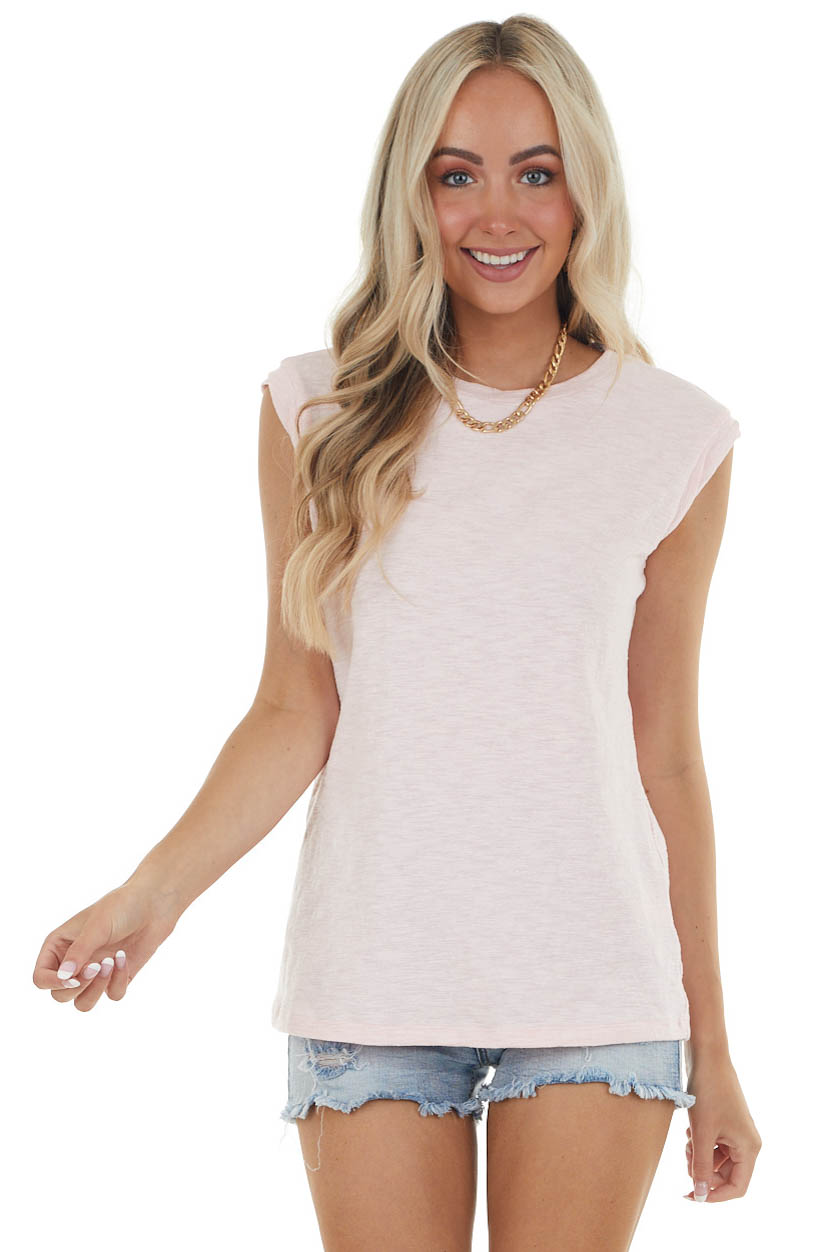 Bubblegum Tank Top with Twisted Band Detail