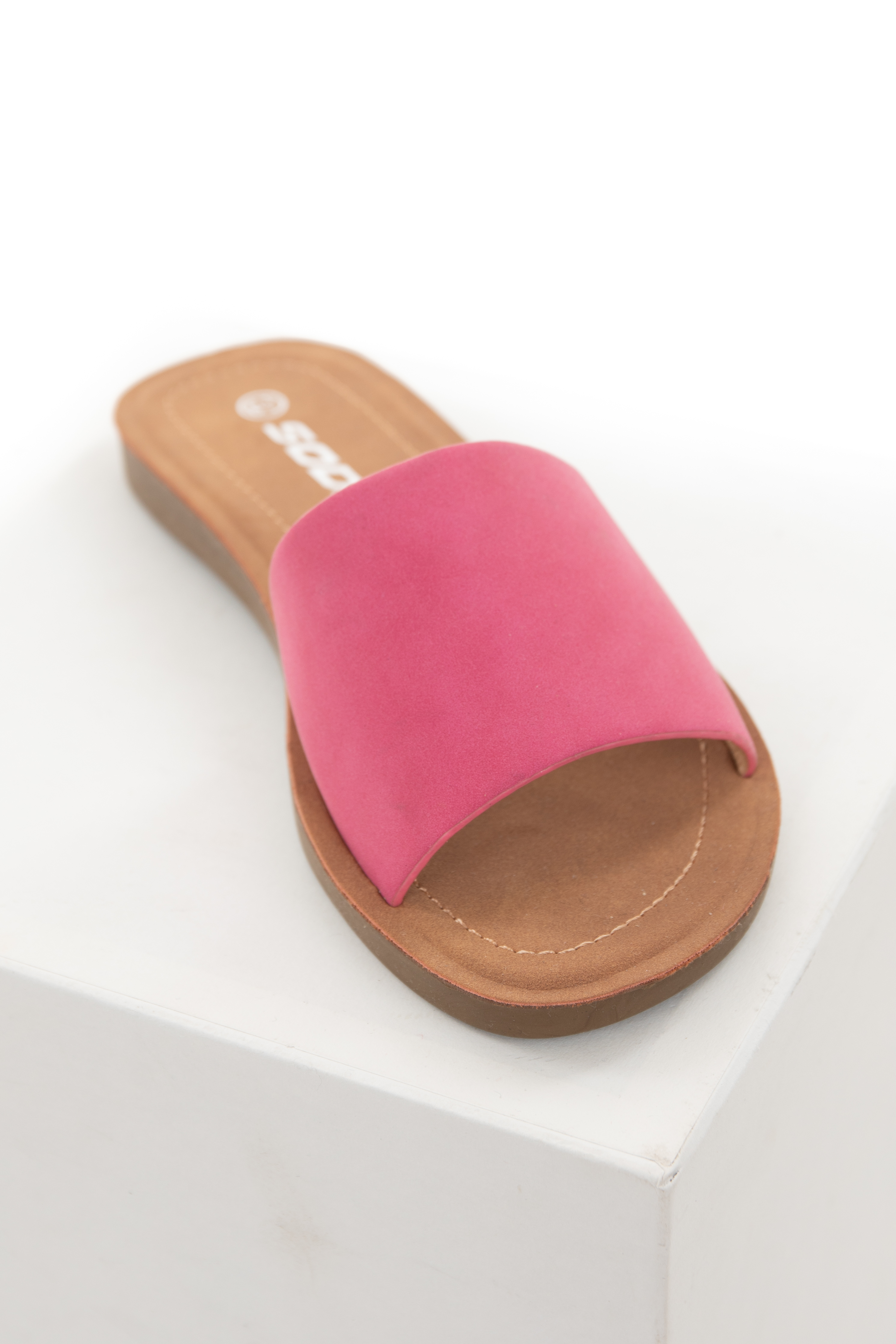 Mulberry Faux Leather Slip On Style Sandal