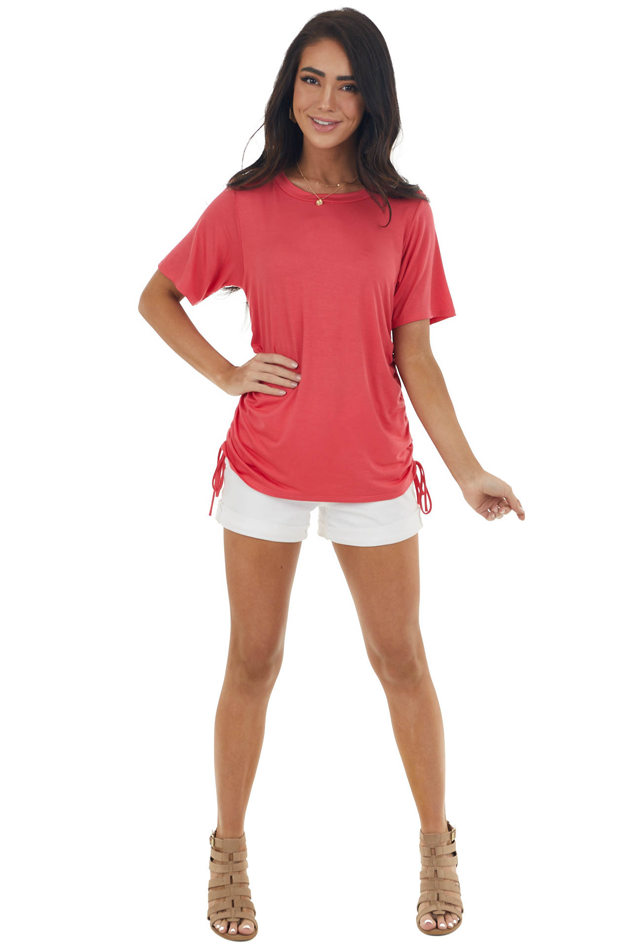 Hibiscus Top with Adjustable Side Ruching