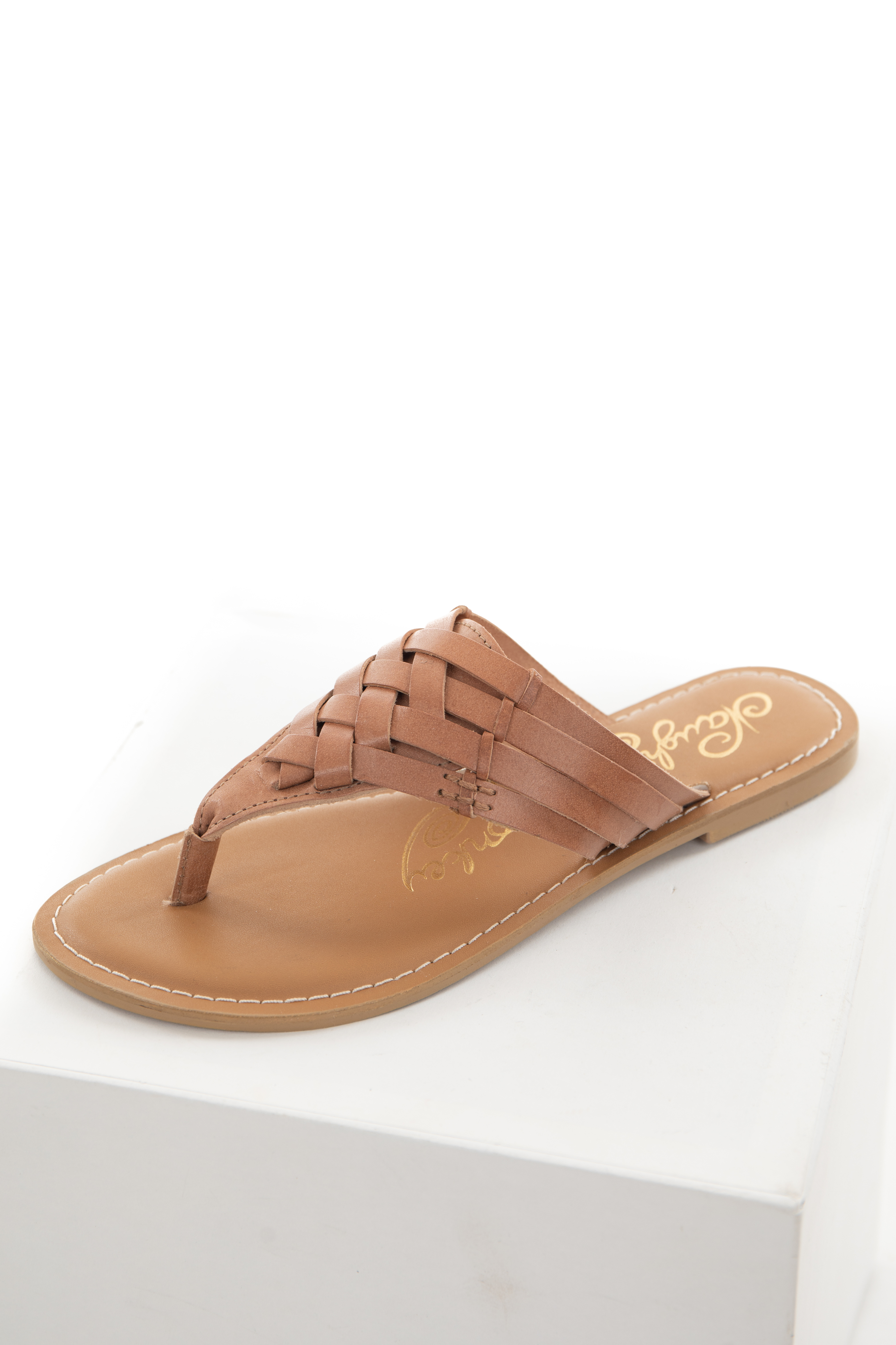 Sienna Strappy Genuine Leather Thong Sandals