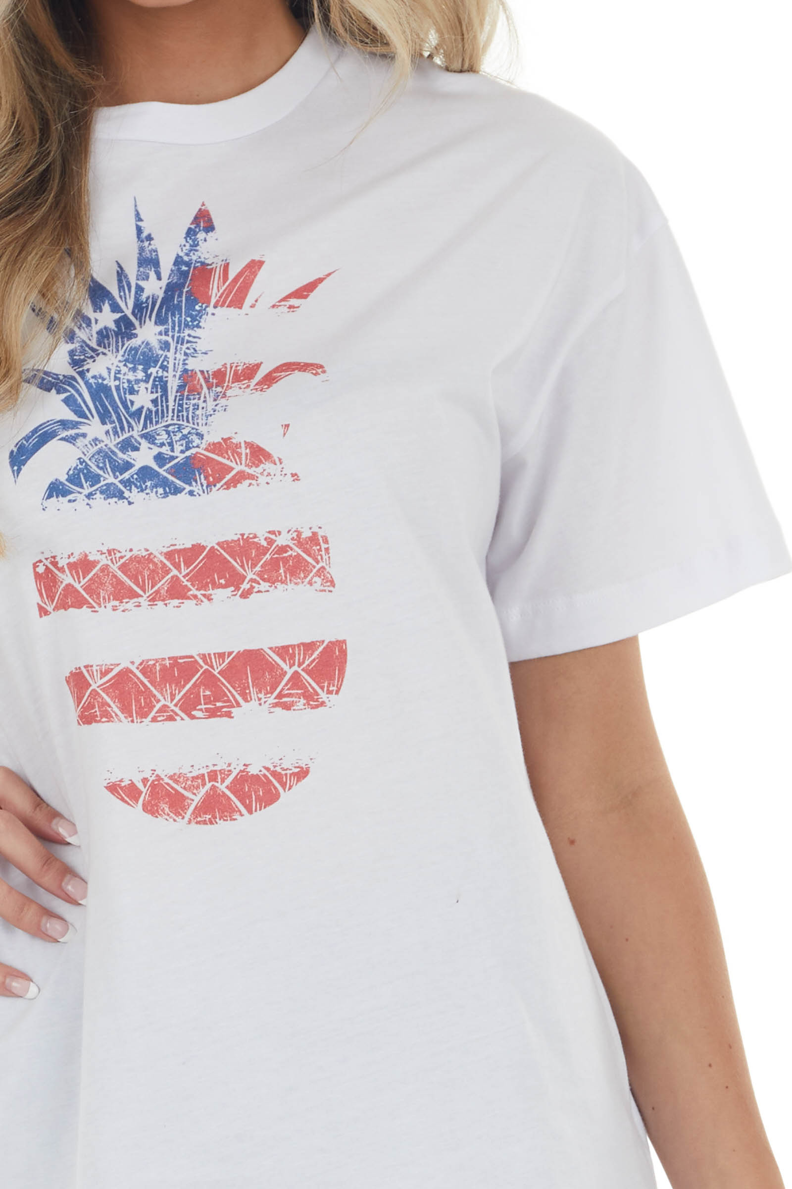 Off White Americana Pineapple Graphic Knit Tee