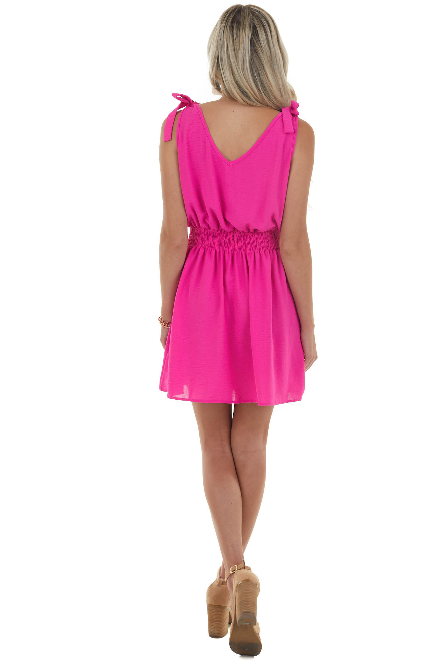 Mulberry Woven Dress with Smocked Waist and Tie Straps