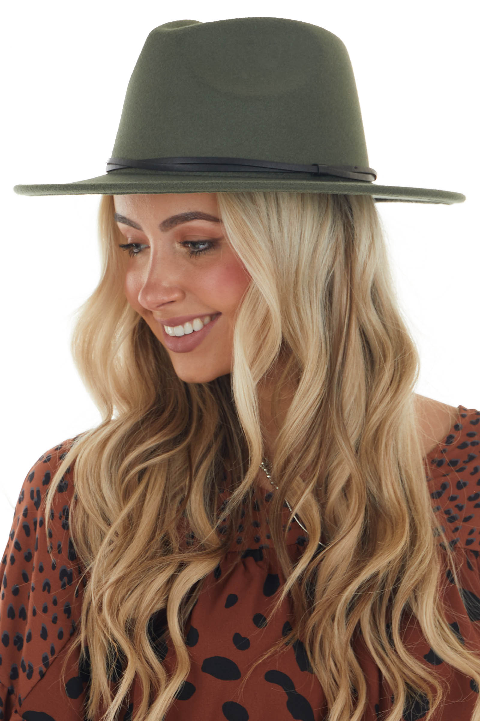 Forest Felt Wide Brim Hat with Double Band