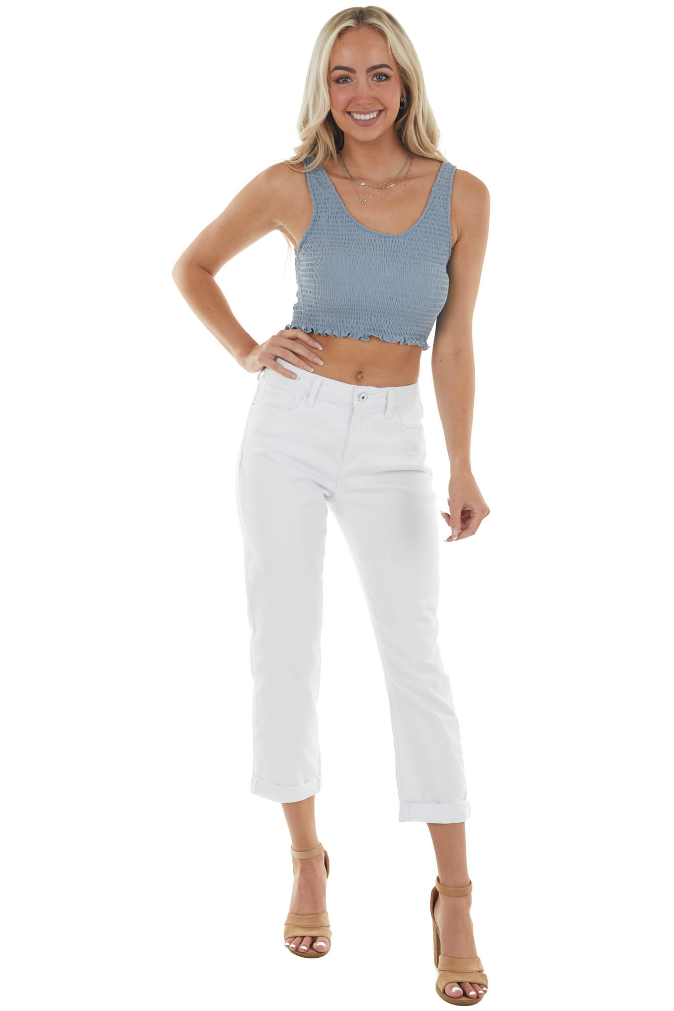 Pearl High Rise Relaxed Fit Boyfriend Jeans