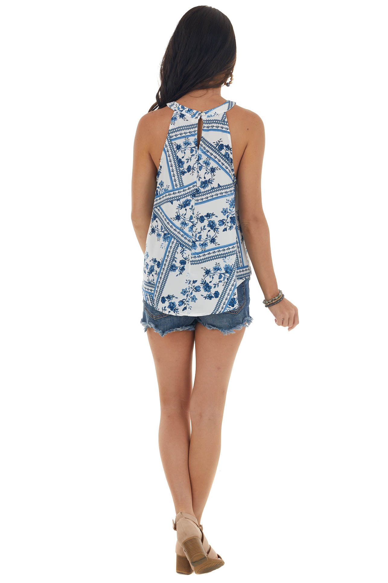 Catalina and Pearl Floral Halter Neck Top