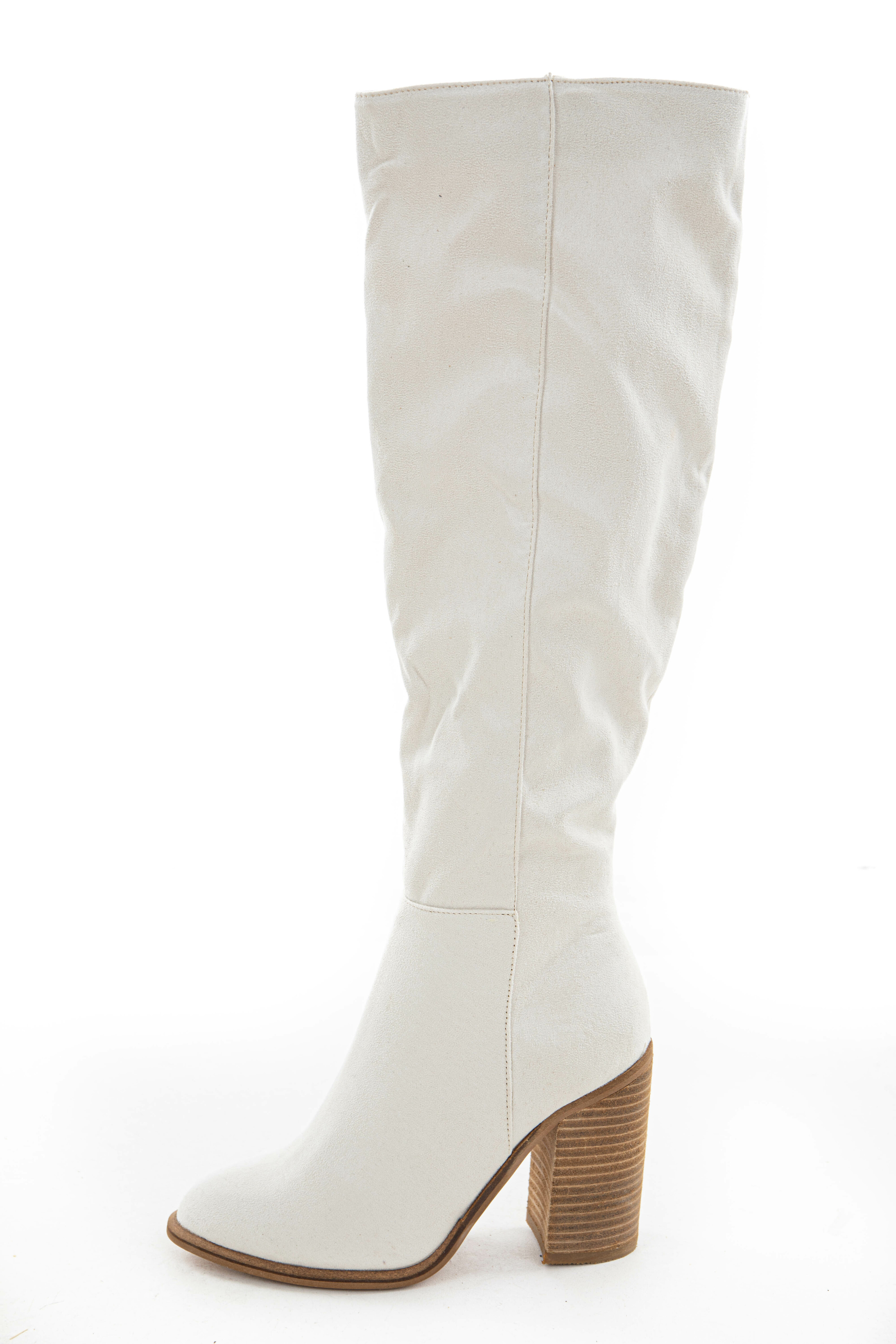Vanilla Faux Suede Tall Heeled Boots