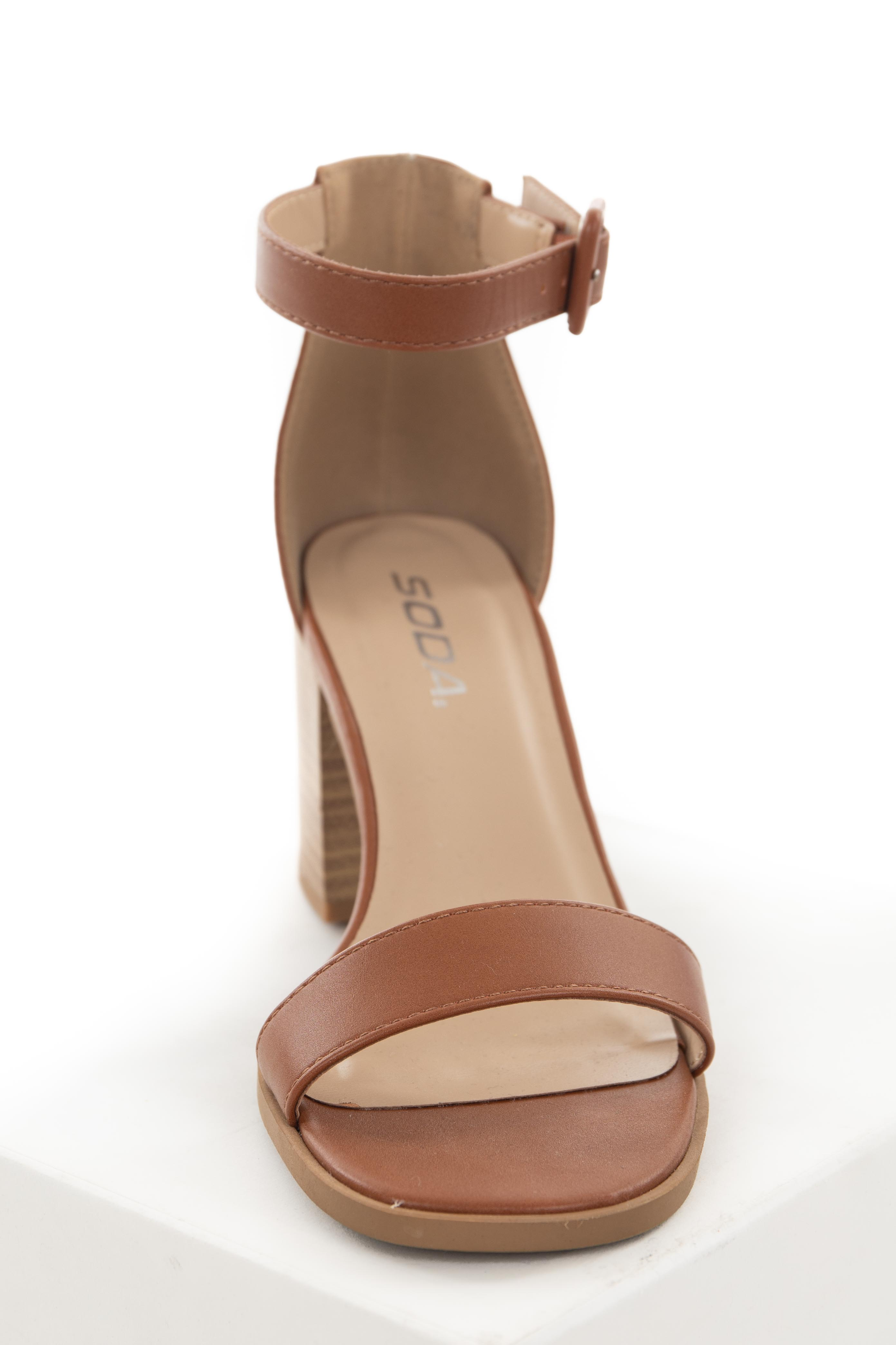 Spice Ankle Strap Stacked Chunky Heel Sandal