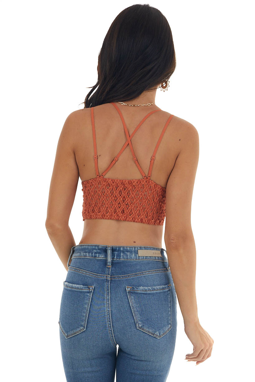 Fire Floral Lace Bralette with Criss Cross Straps