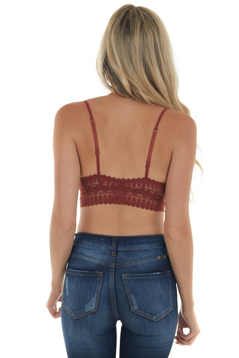 Sienna Scalloped Trim Padded Lace Bralette