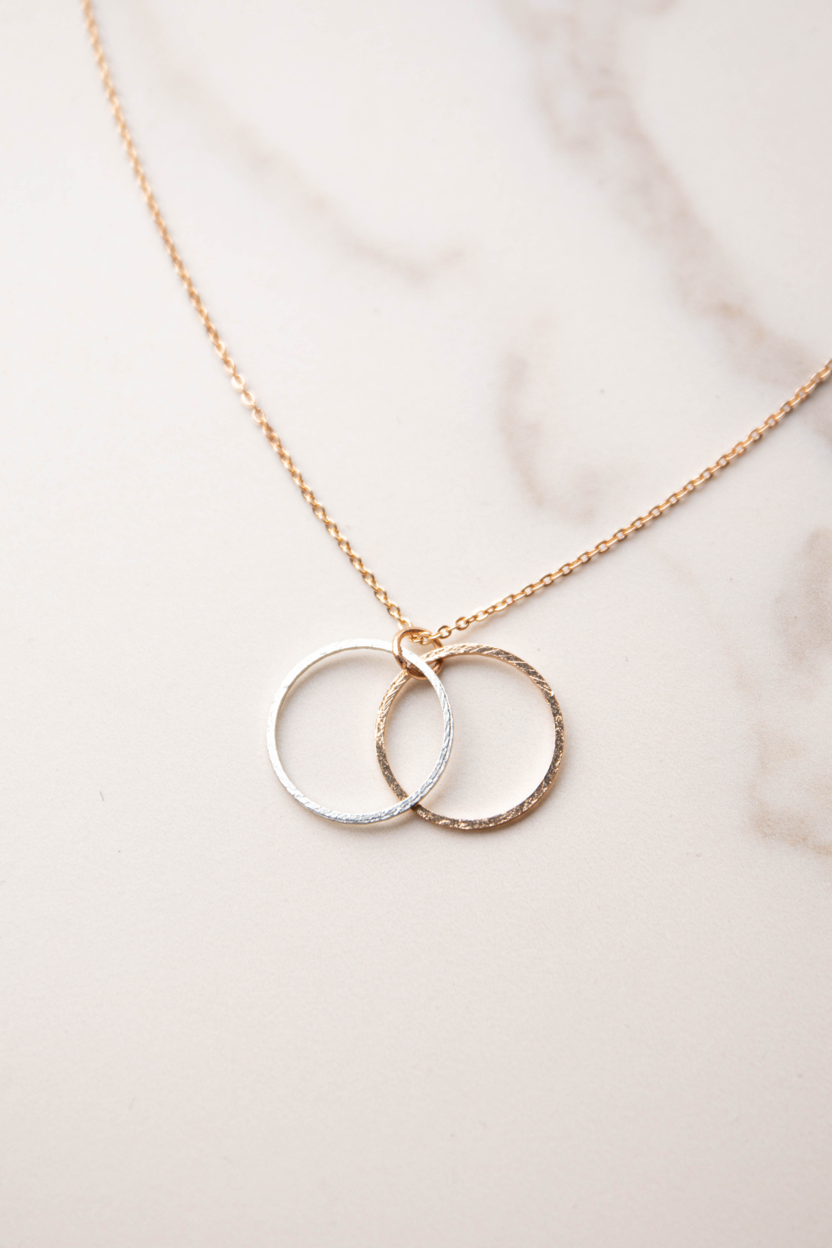 Gold Double Hoop Cable Chain Necklace