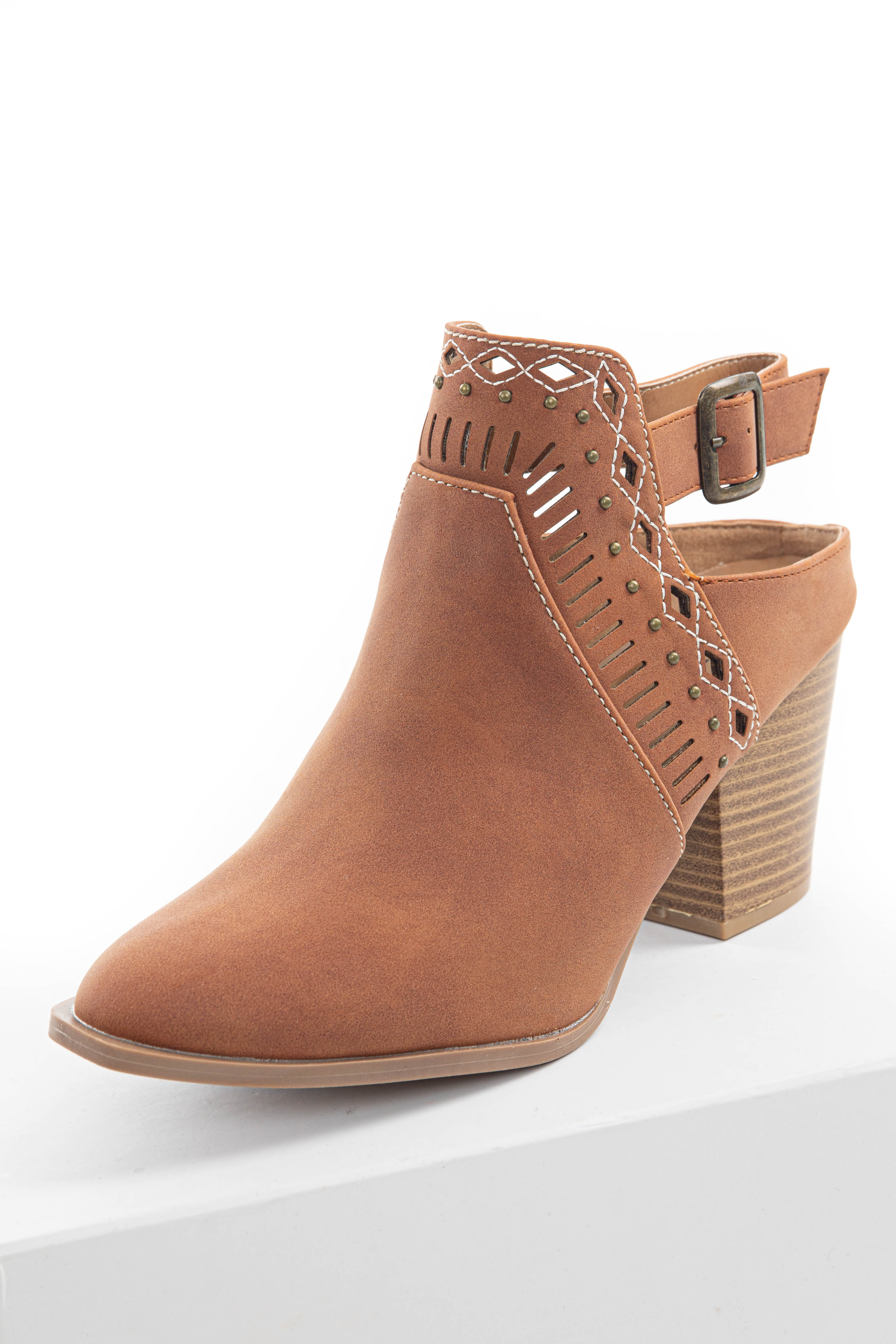 Spice Closed Toe Booties with Studs